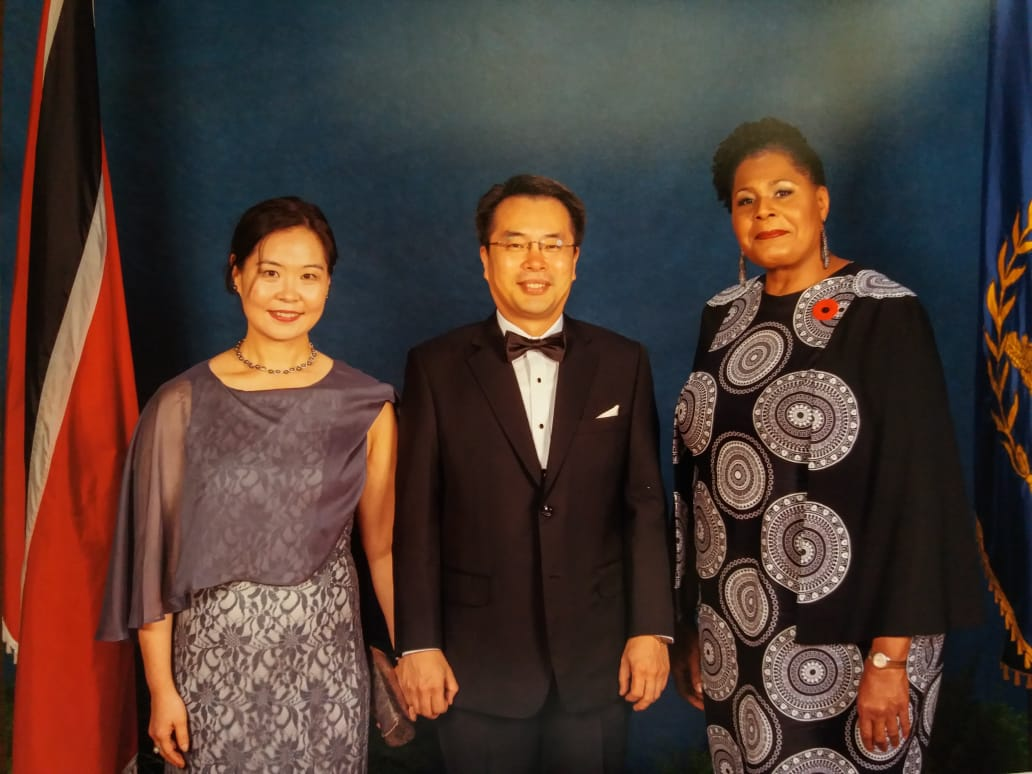 Ambassador Sung joined Dinner for Heads of Diplomatic Missions by President Paula-Mae Weekes