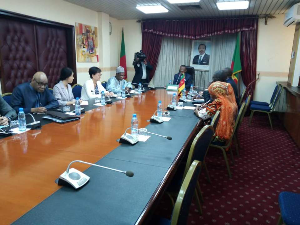 Ambassador RHYOU Attends a meeting on the construction of the Garoua General Hospital,  at the invitation of Prime Minister
