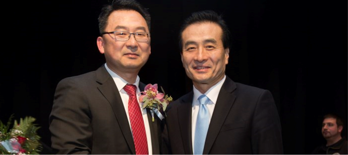Consul General Hyo-Sung Park attends Palisades Park Mayor Christopher Chung's Inauguration