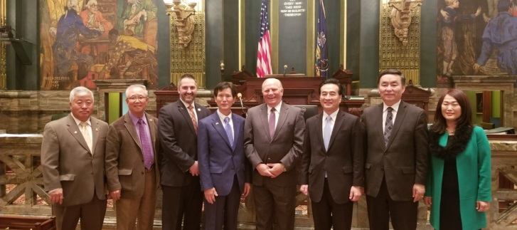 Consul General Hyo-Sung Park Addresses Pennsylvania State Senate