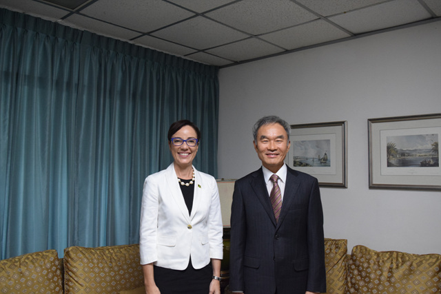 Courtesy Call on Minister of Foreign Affairs and Foreign Trade of Jamaica