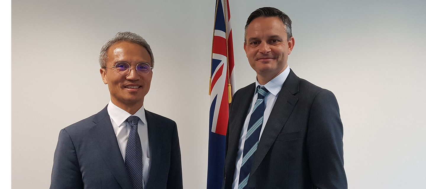 Ambassador Yeo Meets Hon James Shaw, Minister of Climate Change