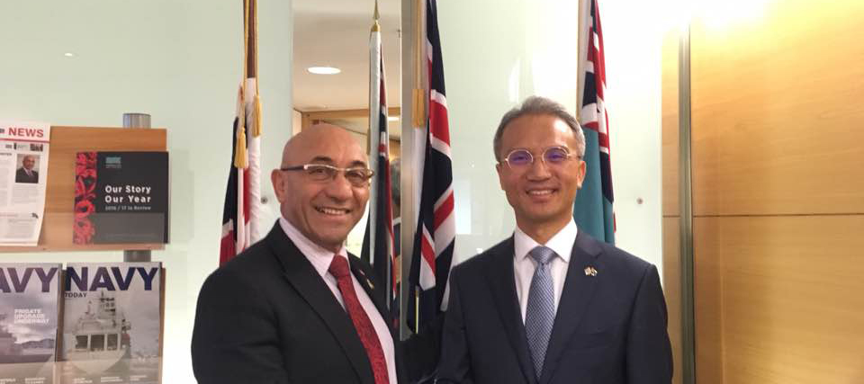 Ambassador Yeo Meets Hon Ron Mark, Minister of Defence