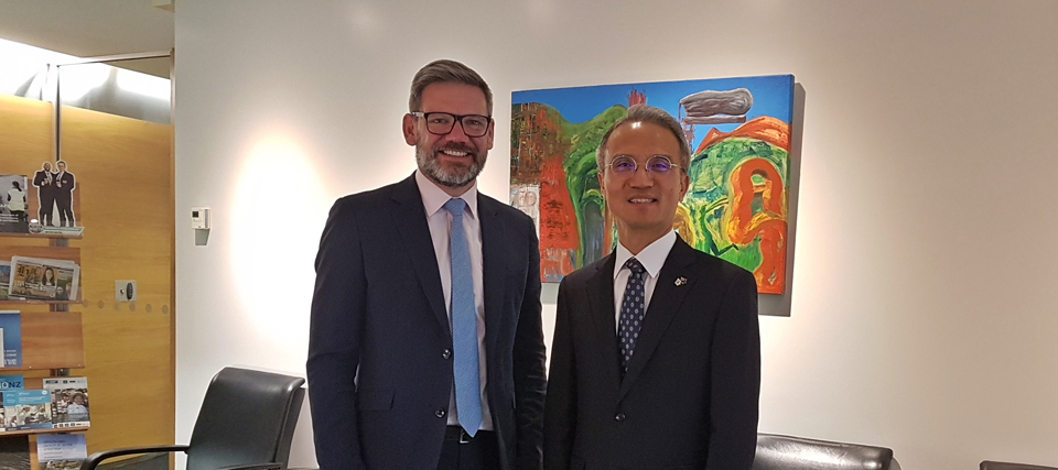 Ambassador Yeo Meets Hon Iain Lees-Galloway, Minister for Workplace Relations and Safety, Immigration and ACC