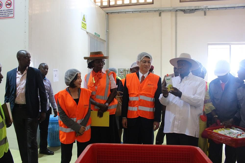 The Soroti Fruit Processing Factory has been commissioned