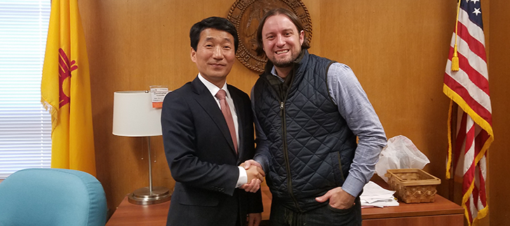 CG Kim meets Christopher Ruszkowski, the Public Education Secretary of New Mexico