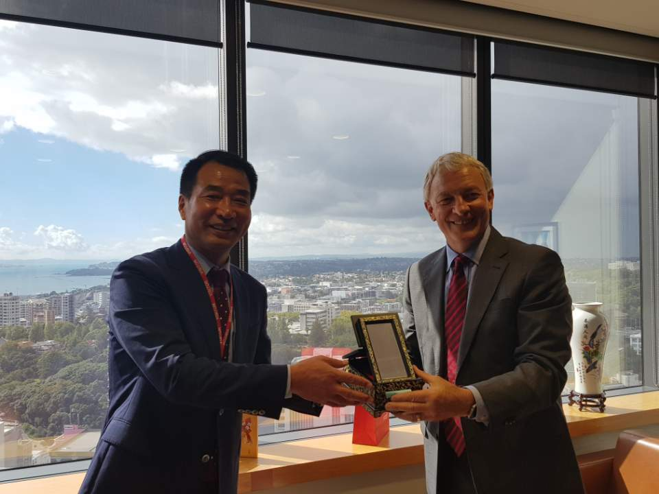Meeting with Auckland Mayor Phil Goff