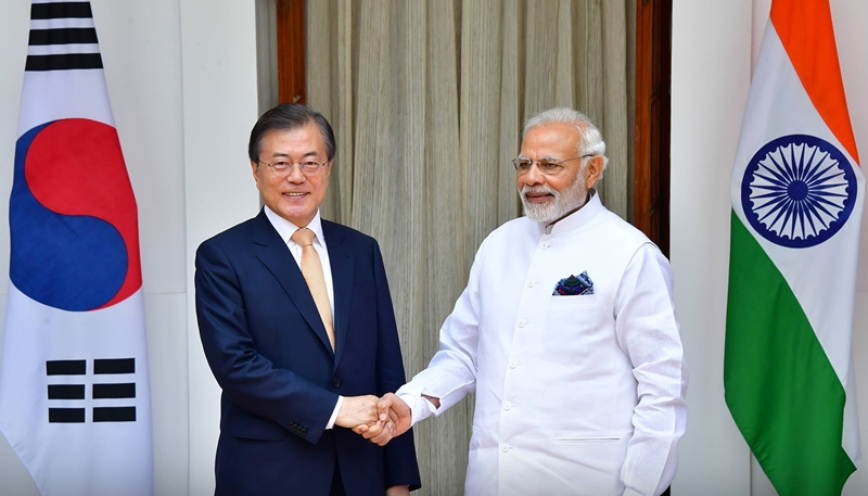 Presidnet Moon Jae-in and Prime Minister Narendra Modi Adopts Shared Vision for People, Prosperity, Peace and Future
