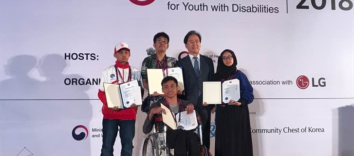 Congratulatory Speech and Presentation of Awards in Global IT Challenge for Youth with Disabilities 2018