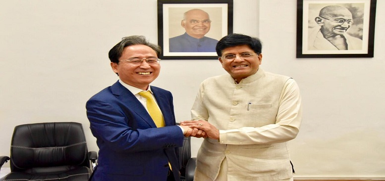 Ambassador Shin Bong-kil met with Commerce and Industry Minister of India(7.19)
