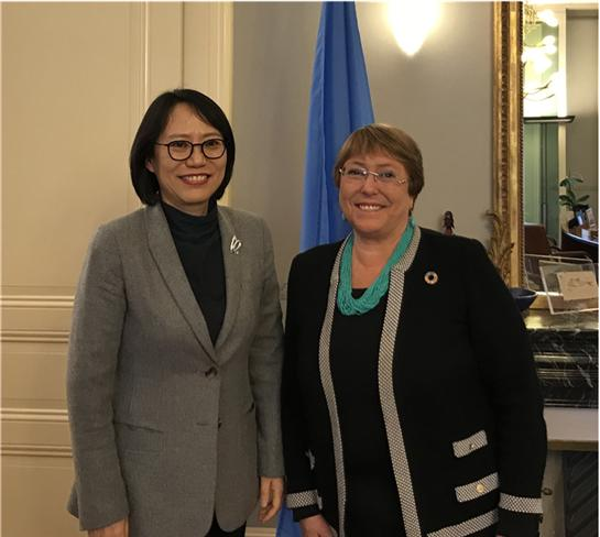 Ambassador Paik meets with the United Nations High-Commissioner for Human Rights