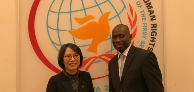 Ambassador Paik meets with the Prersident of the Human Rights Council