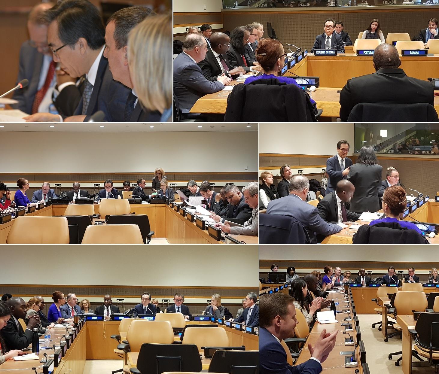 조태열 주유엔대사, UNDP/UNFPA/UNOPS 집행이사회 의장에 최초로 선출(12.6)