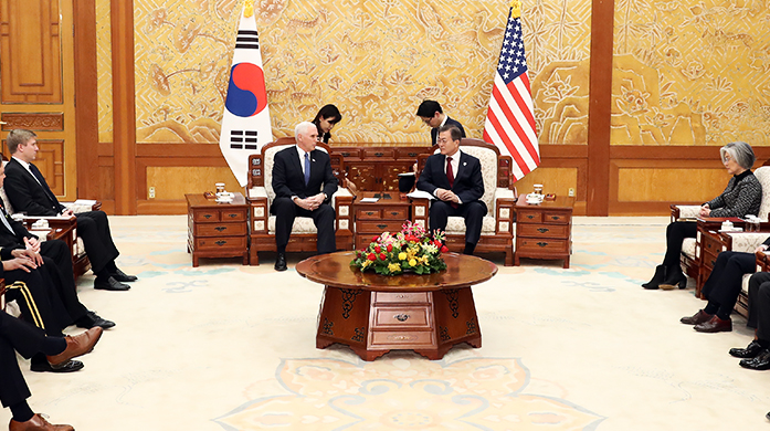 President Moon and Vice President Pence
